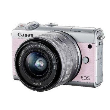 【送料無料】CANON EOS M100 リミテッドピンクフォトキット ピンク [ミラーレス一眼カメラ(2420万画素)/レンズ/ストラップ/コンパクトフォトプリンター]
