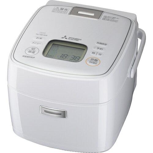 MITSUBISHI NJ-SEA06-W ピュアホワイト 炭炊釜 備長炭 [IHジャー炊飯器(3.5合炊き)]