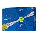 キャロウェイ ERC SOFT ゴルフボール イエロー 1ダース(12個入り) 【日本正規品】 ゴルフ