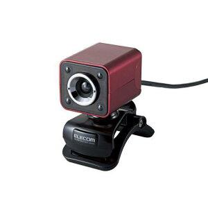明るく光るLEDライトを搭載!ガラスレンズ搭載130万画素WebカメラELECOM UCAM-DLK130TRD