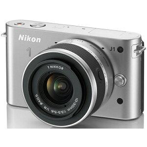ファッショナブルなプレミアムカメラ。NIKON Nikon 1 J1 標準ズームレンズキット シルバー N1J1...