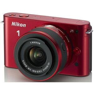 ファッショナブルなプレミアムカメラ。NIKON Nikon 1 J1 標準ズームレンズキット レッド N1J1LK...