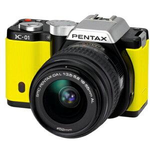 PENTAX K-01 ズームレンズキット ブラック/イエロー [標準ズームレンズ]【送料無料】PENTAX K-0...
