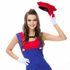 スーパーマリオ 女性 マリオ 大人用スーパーマリオ仮装 ハロウィン仮装 コスチューム衣装 ...