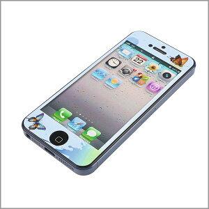 【蝶柄 iPhone/アイホン iphone4/5 アイフォン4/5 skin スキン シール 保護フィルム【メール...