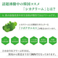 【ポイント3倍】ヒト幹細胞シカクリームひめゆりSCクリームW10ヒト幹細胞シカクリームCICAクリームツボクサエキス高濃度10%