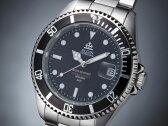 エルジン ELGIN 腕時計 200m防水 自動巻き ダイバーズ FK1405S-B ブラック