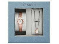 スカーゲンSKAGENレディース腕時計ネックレスギフトボックスセットSKW1067