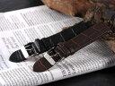 腕時計 替えベルト 型押クロコマットハラ カーフ 20mm PLCMS301BRSV
