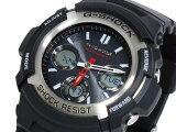 カシオ CASIO Gショック G-SHOCK 逆輸入 アナデジ 電波 ソーラー 腕時計 AWG-M100-1A ブラック ラバーベルト