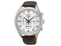 セイコーSEIKO逆輸入クロノグラフメンズ腕時計SSB229P1レザーベルト