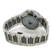 ジョンハリソンソーラー電波時計メンズ腕時計JH-028SBグレー×シルバー
