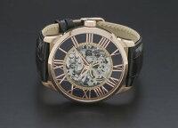 サルバトーレマーラ手巻きメンズ腕時計SM16101-PGBK