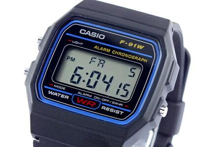 【バンド・ベルト調整無料】【ギフトラッピング無料】カシオ CASIO 時計 ウォッチ f-91w-1 メン...