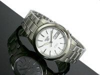 SEIKO5セイコー5逆輸入日本製自動巻きメンズ腕時計SNKE49J1ホワイト×シルバーメタルベルト