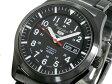 セイコー SEIKO 5 SPORTS 海外モデル 腕時計 自動巻き 日本製 SNZG17J1 メンズ ブラック メタルベルト