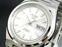 SEIKO 5 セイコー5 逆輸入 日本製 自動巻き メンズ 腕時計 SNKC49J1 ホワイト×シルバー メタルベルト