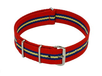 Smart turn out SMART TURNOUT for wrist watch replacement belt RA-55-18 red × black × yellow nylon belt