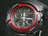カシオ CASIO Gショック G-SHOCK 逆輸入 アナデジ メンズ 腕時計 AW-591-4A ブラック×レッド