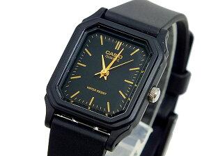 カシオ CASIO ベーシック 逆輸入 レディース 腕時計 LQ-142-1E ゴールド×ブラック ラバーベルト