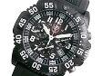 ルミノックス LUMINOX ネイビーシールズ カラーマーク クロノグラフ メンズ スイス製 腕時計 3081 ブラック ラバーベルト