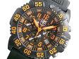 ルミノックス LUMINOX ネイビーシールズ カラーマーク クロノグラフ メンズ 腕時計 3089 ブラック×オレンジ ラバーベルト