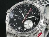 HAMILTON ハミルトン KHAKI カーキ ETO クロノグラフ 腕時計 H77612133 メンズ ブラック×シルバー メタルベルト