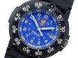 ルミノックス LUMINOX ネイビーシールズ カラーマーク クオーツ メンズ 腕時計 3003 ブルー×ブラック ラバーベルト