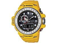 カシオCASIOGショックG-SHOCKガルフマスター電波ソーラーアナデジ腕時計GWN-1000-9Aイエローラバーベルト
