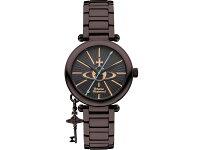 ヴィヴィアンウエストウッドVIVIENNEWESTWOODオーブ腕時計レディースVV006KBRブラウンメタルベルトブレスレット