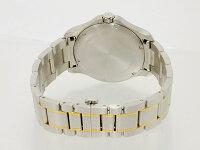ビクトリノックスVICTORINOXスイス製クォーツメンズ腕時計241362ホワイトゴールド×シルバーメタルベルト