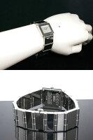 GUCCIグッチスイス製クオーツ腕時計レディース600J-SVシルバーブレスレットメタルベルト