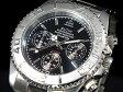 エルジン ELGIN ダイバーズ 腕時計 クロノグラフ メンズ FK1120S-B ブラック×シルバー メタルベルト