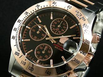 Elgin ELGIN wristwatch chronograph mens FK1184PG-B