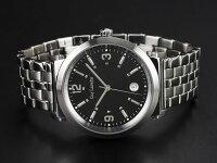 GuyLarocheギラロッシュクォーツメンズ腕時計G2005-05ブラック×シルバーメタルベルト