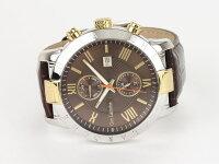 GuyLarocheギラロッシュマルチファンクションメンズ腕時計G3006-02ブラウン×ゴールドレザーベルト