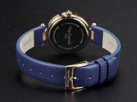 GuyLarocheギラロッシュクォーツレディース腕時計L1007-05ピンクゴールド×ブルーレザーベルト