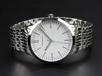 GuyLarocheギラロッシュボーイズクォーツレディース腕時計L2004-03ホワイト×シルバーメタルベルト