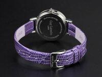 GuyLarocheギラロッシュジルコニアクォーツレディース腕時計L5004-02ブラック×パープルレザー