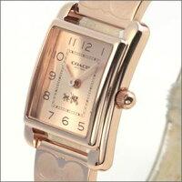 コーチ人気のシグネチャーパターンのブレスレット☆オール・ピンクゴールドカラーのキレカワ・レディス腕時計14502161