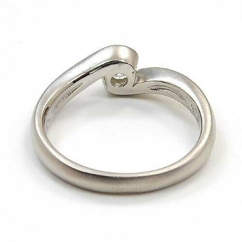 プラチナ(Pt900) ダイヤモンド 0.2カラット typeAAA 一粒 つや消しリング
