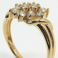 18金ゴールド(K18)ダイヤモンドスイートテンリング0.5カラットtypeAAA送料無料