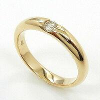 一文字リング18金ゴールド0.1カラットライトブラウンダイヤモンドK18WG/K18の2種類よりお選びください。(0.1ct)R