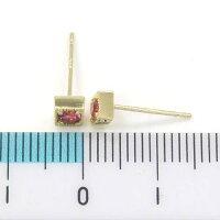 K18ルベライトピアス(0.9mm芯・キャッチなし)