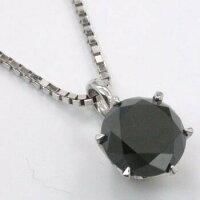 K18WGブラックダイヤプチネックレス(長さ調節可能)