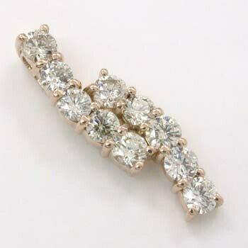 18金ピンクゴールド 又は 18金ゴールドダイヤモンド 0.5カラット ペンダントヘッドtypeAAA:アーアゼロワン JEWELRY