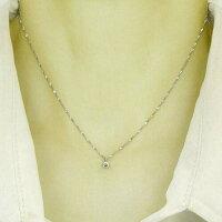 プラチナ(PT900)ダイヤモンド0.1ctペンダントネックレスtypeA