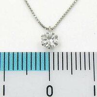 Pt900天然ダイヤ(VVS2・F)0.18ctネックレス(チェーン幅0.45mm長さ42cm)