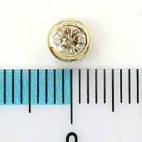18金ゴールドライトブラウンダイヤ(SIクラス)0.35ctリバーシブルペンダントヘッド(地金面(裏)つや消し加工)送料無料