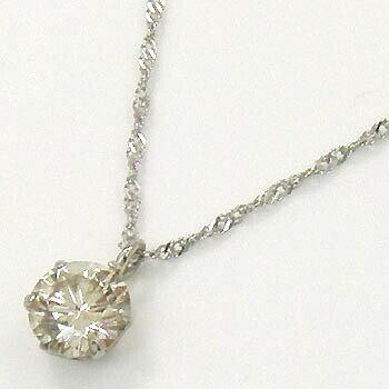 プラチナ(Pt900) ライトブラウンダイヤモンド0.4カラット 6本爪ペンダント ネックレス一週間前後で発送できます。